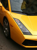 Magnificent yellow automobile — Stock Photo