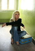 Mooie blonde — Stockfoto