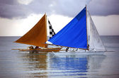 Two sailing boat — Stock Photo