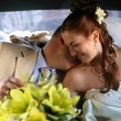 Newly married pair — Stock Photo