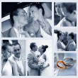 Collage of nine wedding photos — Stock Photo #6213638