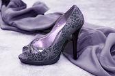 Violet shoes — Stock Photo