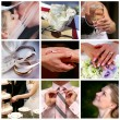 Collage of nine wedding photos — Stock Photo #6224662