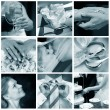 Collage of nine wedding photos — Stock Photo #6224675