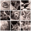 Collage of nine wedding photos — Stock Photo #6224684