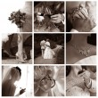 Collage of nine wedding photos — Stock Photo #6224702