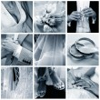 Collage of nine wedding photos — Stock Photo #6224711