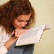 Girl with the book — Stock Photo #6225314