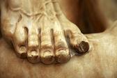 Leg of a statue — Stock Photo