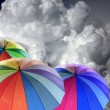 Rainbow umbrella - Stock Photo