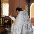 Stock Photo: Priest with Bible