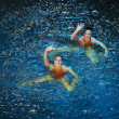 Synchronous swiming — Foto Stock