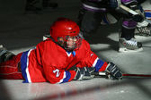 Young hockey players — Stock Photo