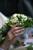 Wedding bouquet ring — Stock Photo