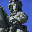 Louis XIV's statue — Stock Photo