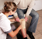 Patella knee support — Stock Photo