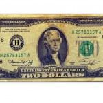 Two dollars — Stock Photo #6270103