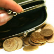 Purse with coins — Stock Photo