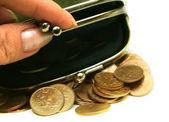 硬貨の財布 — ストック写真