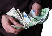 Euro banknotes money — Stock Photo