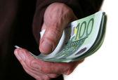 Dinero de los billetes de euro — Foto de Stock