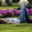 Rest on a lawn — Stock Photo