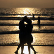 Couple on sunset. — Stock Photo