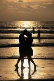Couple on sunset. — Stock Photo