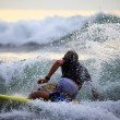 Stock Photo: Surfer in ocean