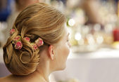 Wedding hairdress — Stock Photo