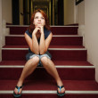 Red-haired girl - Stock Photo