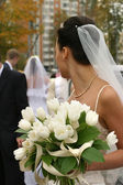 Noiva com um buquê — Fotografia Stock
