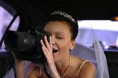 新娘与照相机 — 图库照片