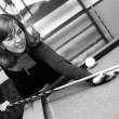 Plays on billiards — Stock Photo