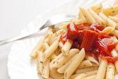 Pasta con salsa — Foto de Stock