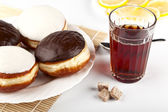 Tea With Donuts — Stock Photo