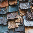 Stock Photo: Leather handbags
