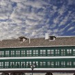 Houses on the square of Almagro in Castilla — Stock Photo
