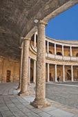 Interior do palácio de charles v, o alhambra — Foto Stock