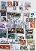 Collection of stamps from Spain — Stock Photo