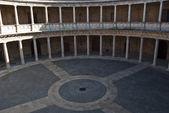 Innerhalb der palacio de carlos v — Stockfoto