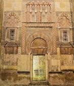 Door of the Mosque of Cordoba in the night — Zdjęcie stockowe