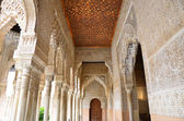 Corridor on the Court of the Lions, the Alhambra — Foto Stock