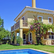 Beautiful villa with pool in Spain - Stock Photo