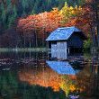 Hut on a lake — Stock Photo