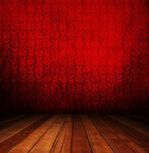 Dark red interior room — Stock Photo