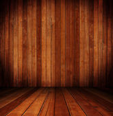 Wooden interior room — Stock Photo
