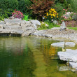 Beautiful classical garden pond. - Stock Photo