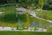 Beautiful classical garden pond. — Stock Photo