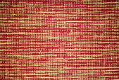 Carpet with original pattern, yellow and red background — Stock Photo